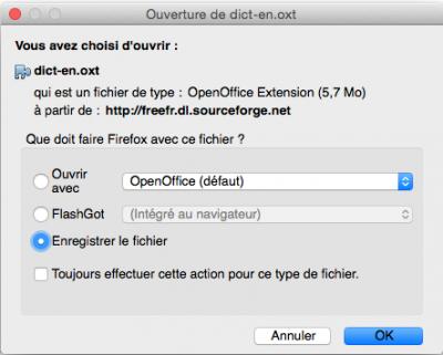 Aoo 4 1 2 v extensions et dictionnaires el capitan consulter le sujet forum openoffice - Open office derniere version ...