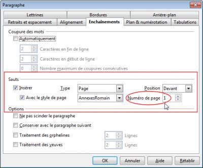 R solu num rotation des annexes consulter le sujet - Numerotation des pages sur open office ...