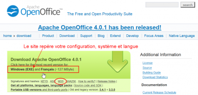 Archive aoo installer openoffice 4 0 1 windows consulter le sujet forum openoffice - Telecharger apache open office gratuit ...